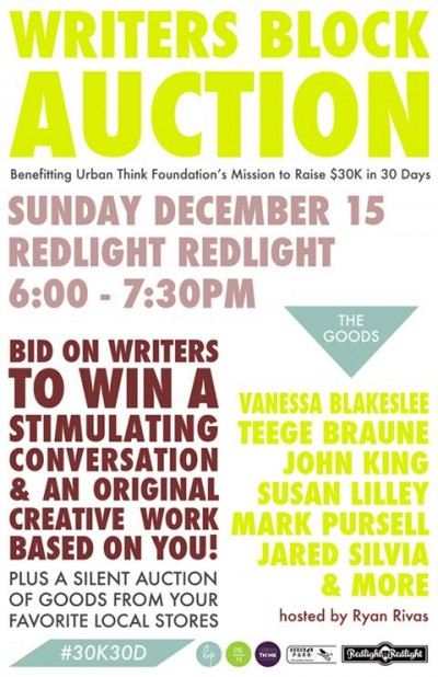 Writers Block Auction @ Redlight Red Light | Orlando | Florida | United States
