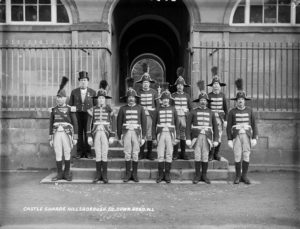 Guards at Hillsborough Castle? Actually the Fort Warders or Castlemen at Hillsborough Courthouse...